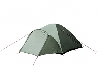 High Peak Kuppelzelt Nevada 4, Campingzelt mit Vorbau, Iglu-Zelt für 4 Personen, doppelwandig, 2.000 mm wasserdicht, Ventilationssystem, Wetterschutz-Eingang, Moskitoschutz - 3