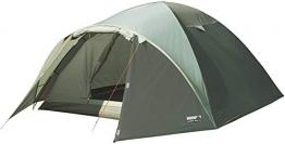 High Peak Kuppelzelt Nevada 4, Campingzelt mit Vorbau, Iglu-Zelt für 4 Personen, doppelwandig, 2.000 mm wasserdicht, Ventilationssystem, Wetterschutz-Eingang, Moskitoschutz - 1