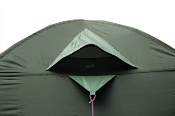High Peak Kuppelzelt Nevada 4, Campingzelt mit Vorbau, Iglu-Zelt für 4 Personen, doppelwandig, 2.000 mm wasserdicht, Ventilationssystem, Wetterschutz-Eingang, Moskitoschutz - 7