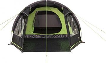 High Peak Tunnelzelt Atmos 3, Campingzelt mit Zeltboden, Trekkingzelt für 3 Personen, 2 Eingänge, doppelwandig, 4.000 mm wasserdicht, Ventilationssystem, Moskito- und Klarsicht-Fenster, windstabil - 2