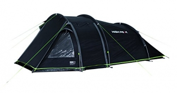 High Peak Tunnelzelt Atmos 3, Campingzelt mit Zeltboden, Trekkingzelt für 3 Personen, 2 Eingänge, doppelwandig, 4.000 mm wasserdicht, Ventilationssystem, Moskito- und Klarsicht-Fenster, windstabil - 3
