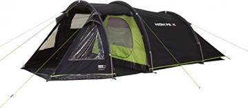 High Peak Tunnelzelt Atmos 3, Campingzelt mit Zeltboden, Trekkingzelt für 3 Personen, 2 Eingänge, doppelwandig, 4.000 mm wasserdicht, Ventilationssystem, Moskito- und Klarsicht-Fenster, windstabil - 6