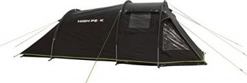 High Peak Tunnelzelt Atmos 3, Campingzelt mit Zeltboden, Trekkingzelt für 3 Personen, 2 Eingänge, doppelwandig, 4.000 mm wasserdicht, Ventilationssystem, Moskito- und Klarsicht-Fenster, windstabil - 7