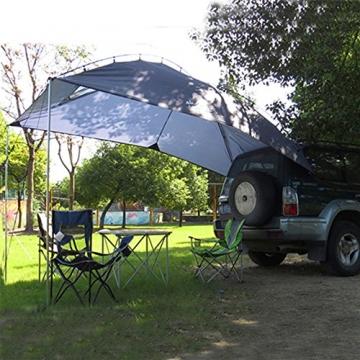 HUKOER Autokonto Outdoor Camping Camping Familie Auto Tail Konto Auto Seite Konto Zelte Heckklappe für das Auto, für Camping und Familie, Sommer Camping Zelt Schatten Zelt Auto Zelt 350 * 240 * 105 - 2