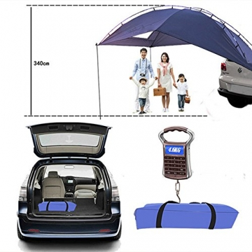 HUKOER Autokonto Outdoor Camping Camping Familie Auto Tail Konto Auto Seite Konto Zelte Heckklappe für das Auto, für Camping und Familie, Sommer Camping Zelt Schatten Zelt Auto Zelt 350 * 240 * 105 - 4