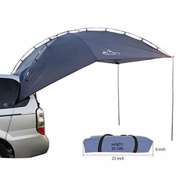 HUKOER Autokonto Outdoor Camping Camping Familie Auto Tail Konto Auto Seite Konto Zelte Heckklappe für das Auto, für Camping und Familie, Sommer Camping Zelt Schatten Zelt Auto Zelt 350 * 240 * 105 - 1