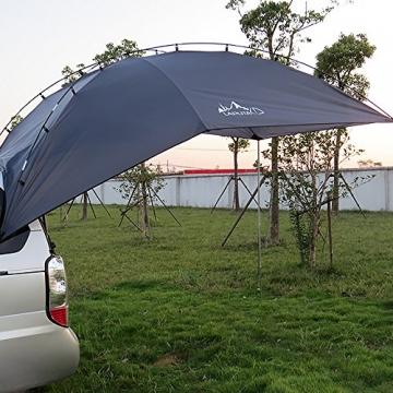 HUKOER Autokonto Outdoor Camping Camping Familie Auto Tail Konto Auto Seite Konto Zelte Heckklappe für das Auto, für Camping und Familie, Sommer Camping Zelt Schatten Zelt Auto Zelt 350 * 240 * 105 - 5
