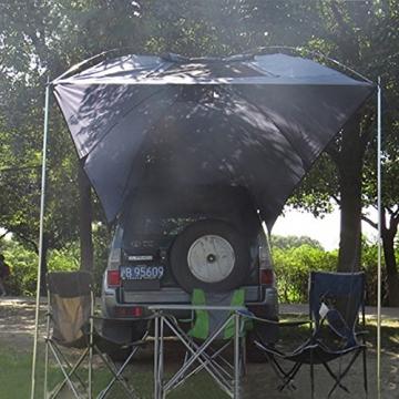 HUKOER Autokonto Outdoor Camping Camping Familie Auto Tail Konto Auto Seite Konto Zelte Heckklappe für das Auto, für Camping und Familie, Sommer Camping Zelt Schatten Zelt Auto Zelt 350 * 240 * 105 - 9