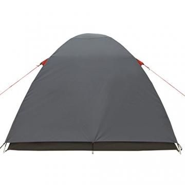 JUSTCAMP Campingzelt Flint 2, Leichtes 2 Personen Kuppelzelt, Kompakt, 3,12 kg, Igluzelt - grau - 6