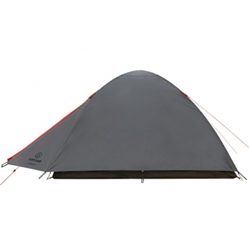 JUSTCAMP Campingzelt Flint 2, Leichtes 2 Personen Kuppelzelt, Kompakt, 3,12 kg, Igluzelt - grau - 7
