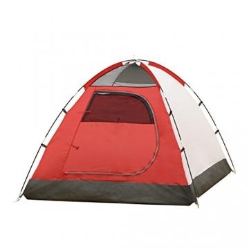 JUSTCAMP Campingzelt Flint 2, Leichtes 2 Personen Kuppelzelt, Kompakt, 3,12 kg, Igluzelt - grau - 8