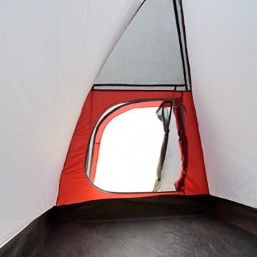 JUSTCAMP Campingzelt Flint 2, Leichtes 2 Personen Kuppelzelt, Kompakt, 3,12 kg, Igluzelt - grau - 9