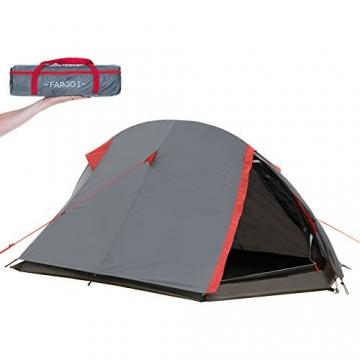 JUSTCAMP Fargo 1, 1-2 Mann Zelt, Tunnelzelt, Leicht (2700g), Kleines Packmaß, Campingzelt, Zelt für Festival, Trekkingtour - 6