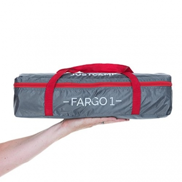 JUSTCAMP Fargo 1, 1-2 Mann Zelt, Tunnelzelt, Leicht (2700g), Kleines Packmaß, Campingzelt, Zelt für Festival, Trekkingtour - 7