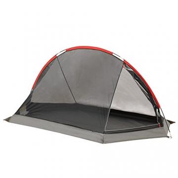 JUSTCAMP Fargo 1, 1-2 Mann Zelt, Tunnelzelt, Leicht (2700g), Kleines Packmaß, Campingzelt, Zelt für Festival, Trekkingtour - 8