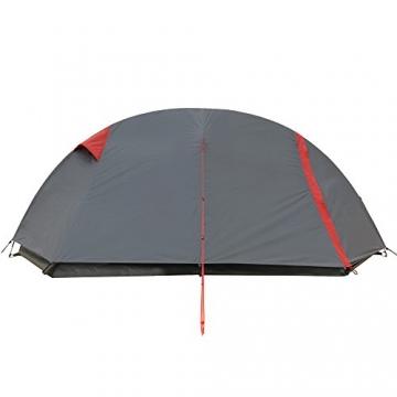 JUSTCAMP Fargo 1, 1-2 Mann Zelt, Tunnelzelt, Leicht (2700g), Kleines Packmaß, Campingzelt, Zelt für Festival, Trekkingtour - 10
