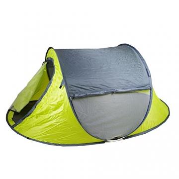 Lastpak Wurfzelt - Popup-Zelt - 245x145x95cm - 2 Personen - Strand, Camping, Festival Zelt - Wasserdicht und UV-schutz - Grün - Inkl. Tasche - 2