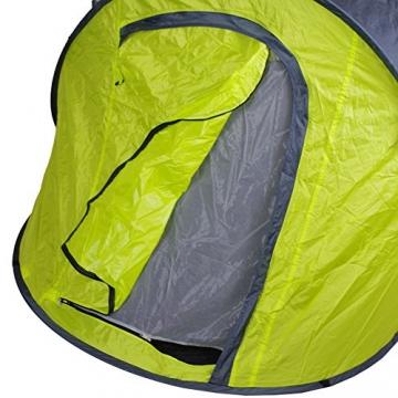 Lastpak Wurfzelt - Popup-Zelt - 245x145x95cm - 2 Personen - Strand, Camping, Festival Zelt - Wasserdicht und UV-schutz - Grün - Inkl. Tasche - 4