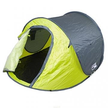 Lastpak Wurfzelt - Popup-Zelt - 245x145x95cm - 2 Personen - Strand, Camping, Festival Zelt - Wasserdicht und UV-schutz - Grün - Inkl. Tasche - 1
