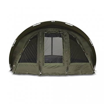 Lucx® Leopard Angelzelt 2 bis 3 Mann Bivvy Karpfenzelt - Carp Dome - Fishing Tent - Campingzelt 2 bis 3 Personen Anglerzelt - 2