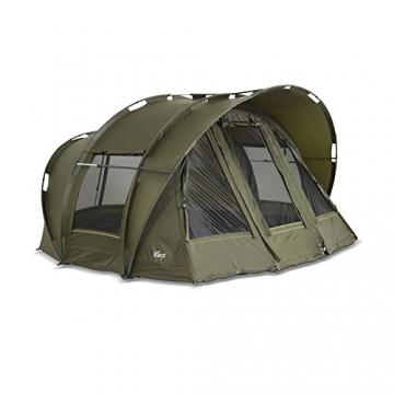 Lucx® Leopard Angelzelt 2 bis 3 Mann Bivvy Karpfenzelt - Carp Dome - Fishing Tent - Campingzelt 2 bis 3 Personen Anglerzelt - 3