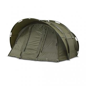 Lucx® Leopard Angelzelt 2 bis 3 Mann Bivvy Karpfenzelt - Carp Dome - Fishing Tent - Campingzelt 2 bis 3 Personen Anglerzelt - 4