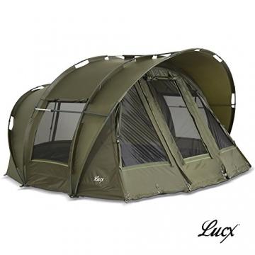 Lucx® Leopard Angelzelt 2 bis 3 Mann Bivvy Karpfenzelt - Carp Dome - Fishing Tent - Campingzelt 2 bis 3 Personen Anglerzelt - 1