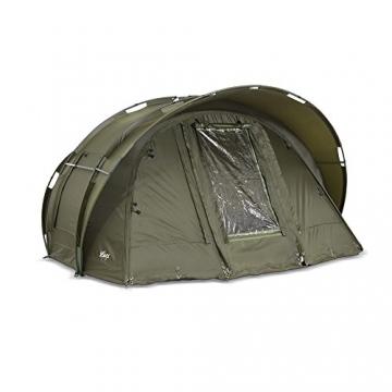 Lucx® Leopard Angelzelt 2 bis 3 Mann Bivvy Karpfenzelt - Carp Dome - Fishing Tent - Campingzelt 2 bis 3 Personen Anglerzelt - 5