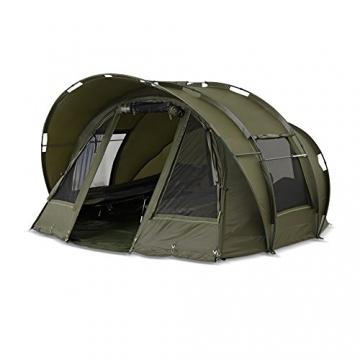 Lucx® Leopard Angelzelt 2 bis 3 Mann Bivvy Karpfenzelt - Carp Dome - Fishing Tent - Campingzelt 2 bis 3 Personen Anglerzelt - 7