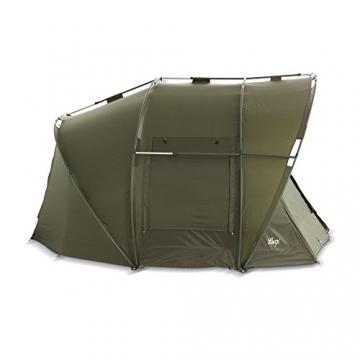 Lucx® Leopard Angelzelt 2 bis 3 Mann Bivvy Karpfenzelt - Carp Dome - Fishing Tent - Campingzelt 2 bis 3 Personen Anglerzelt - 9