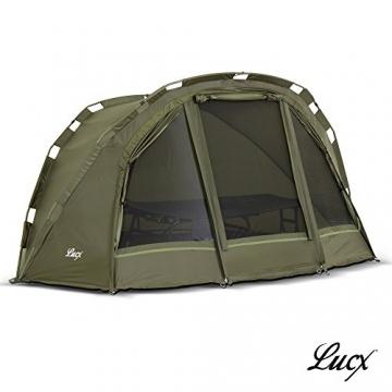 Lucx® Puma Angelzelt / 1 Man Bivvy / 1 Mann Karpfenzelt/Carp Dome/Fishing Tent/Zelt/Wassersäule 10.000 mm, Campingzelt - 1
