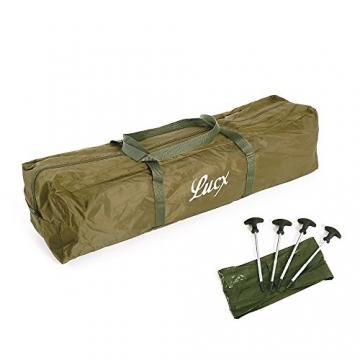 Lucx® Ruck Zuck Zelt/Angelzelt / 1-2 Man Bivvy / 1-2 Mann Karpfenzelt/Campingzelt/Sekundenzelt/Schnellaufbauzelt - 3