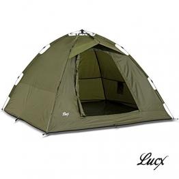 Lucx® Ruck Zuck Zelt/Angelzelt / 1-2 Man Bivvy / 1-2 Mann Karpfenzelt/Campingzelt/Sekundenzelt/Schnellaufbauzelt - 1