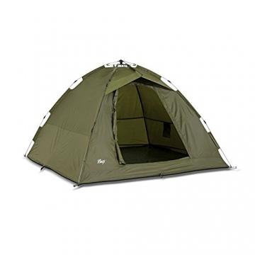 Lucx® Ruck Zuck Zelt/Angelzelt / 1-2 Man Bivvy / 1-2 Mann Karpfenzelt/Campingzelt/Sekundenzelt/Schnellaufbauzelt - 4