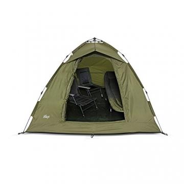 Lucx® Ruck Zuck Zelt/Angelzelt / 1-2 Man Bivvy / 1-2 Mann Karpfenzelt/Campingzelt/Sekundenzelt/Schnellaufbauzelt - 6