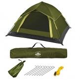 Lumaland Outdoor leichtes Pop Up Wurfzelt 3 Personen Zelt Camping Festival etc. 210 x 190 x 110 cm robust Grün - 1