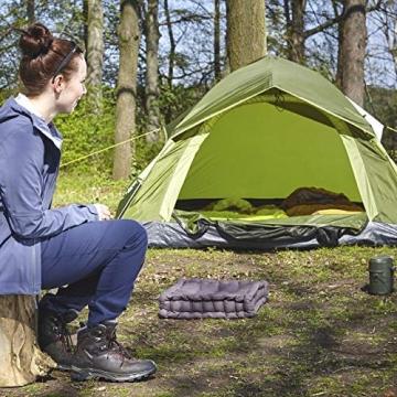 Lumaland Outdoor leichtes Pop Up Wurfzelt 3 Personen Zelt Camping Festival etc. 210 x 190 x 110 cm robust Grün - 8