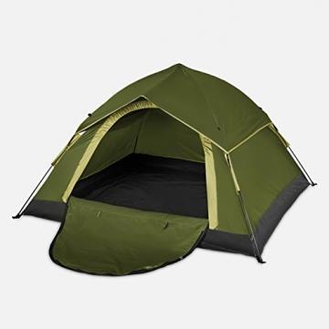 Lumaland Outdoor leichtes Pop Up Wurfzelt 3 Personen Zelt Camping Festival etc. 210 x 190 x 110 cm robust Grün - 9