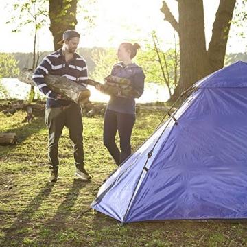 Lumaland Outdoor Pop Up Kuppelzelt Wurfzelt 3 Personen Zelt Camping Festival etc. 215 x 195 x 120 cm robust Blau - 7