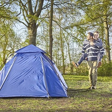 Lumaland Outdoor Pop Up Kuppelzelt Wurfzelt 3 Personen Zelt Camping Festival etc. 215 x 195 x 120 cm robust Blau - 8