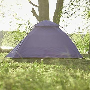 Lumaland Outdoor Pop Up Kuppelzelt Wurfzelt 3 Personen Zelt Camping Festival etc. 215 x 195 x 120 cm robust Blau - 9