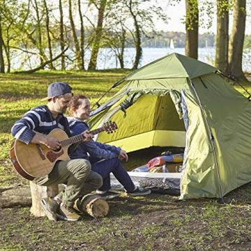 Lumaland Outdoor Pop Up Kuppelzelt Wurfzelt 3 Personen Zelt Camping Festival etc. 215 x 195 x 120 cm robust Grün - 7