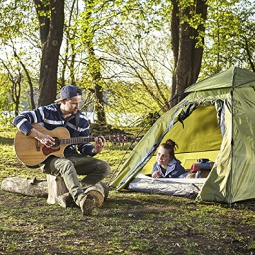 Lumaland Outdoor Pop Up Kuppelzelt Wurfzelt 3 Personen Zelt Camping Festival etc. 215 x 195 x 120 cm robust Grün - 9
