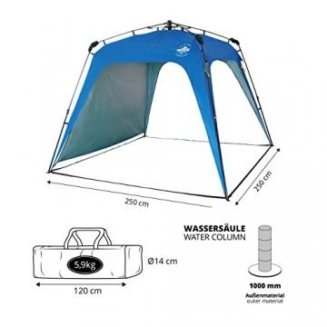 Lumaland Outdoor Pop Up Pavillon Gartenzelt Camping Partyzelt Zelt robust wasserdicht Blau - 4