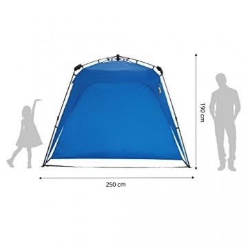 Lumaland Outdoor Pop Up Pavillon Gartenzelt Camping Partyzelt Zelt robust wasserdicht Blau - 5