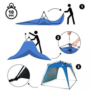 Lumaland Outdoor Pop Up Pavillon Gartenzelt Camping Partyzelt Zelt robust wasserdicht Blau - 6