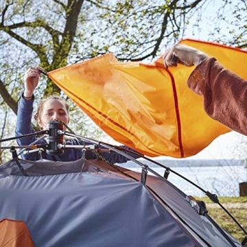 Lumaland Where Tomorrow Pop Up Familienzelt 3 Personen Zelt 220x220x130 Grün - 8