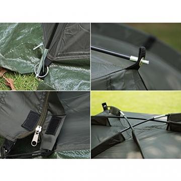 Magic3org Outdoor - fischerei bivvy tag unterschlupf zelt Karpfenzelt für Angler, Bivvy, 6.000 mm Wassersäule schnell errichten - mann grob bekämpfen - 5