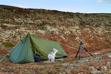 mapuera - Ultraleichtes Trekkingzelt Trek Santiago - grün, 1,25kg, kleines Packmaß, auch mit Trekkingstöcken aufstellbar - das Leichtzelt für 1 Person - 4