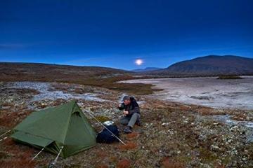 mapuera - Ultraleichtes Trekkingzelt Trek Santiago - grün, 1,25kg, kleines Packmaß, auch mit Trekkingstöcken aufstellbar - das Leichtzelt für 1 Person - 6